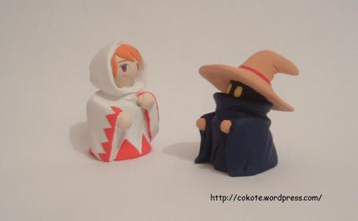 La white mage y el black mage de final fantasy I
