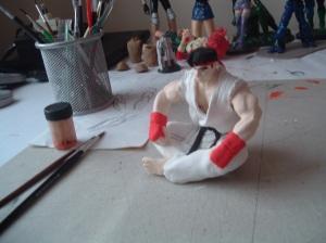 Ryu en pasta para modelar, para regalo