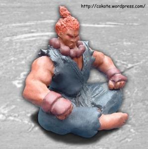 Figura de arcilla pintada con acrílicos brillantes.